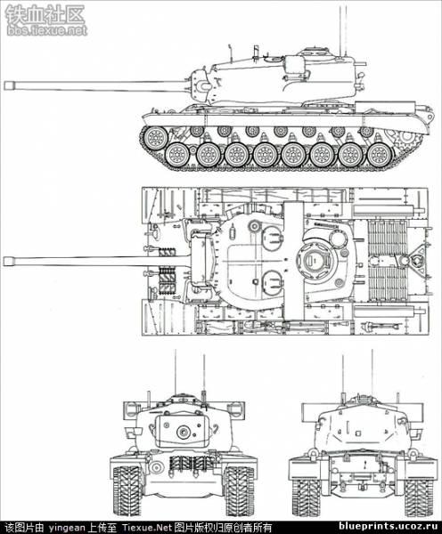 Танк Меркава Мк.4. Чертежи