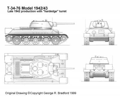 t 34 blueprints  Т-34-76
